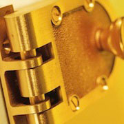 jimmy proof lockset on yellow backround
